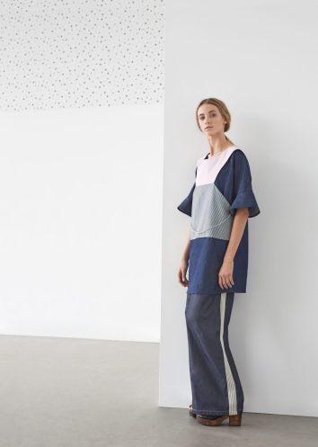 Dress & sporty pleated trouser