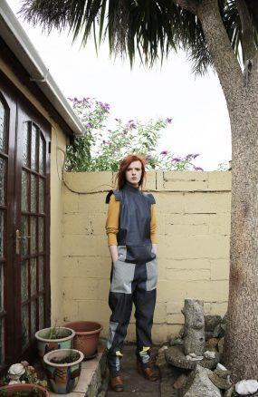 Sleeveless denim top | Loose denim trousers