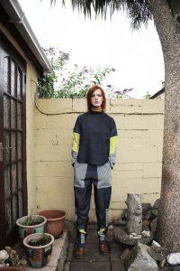 Turtle neck tunic | Loose denim trousers