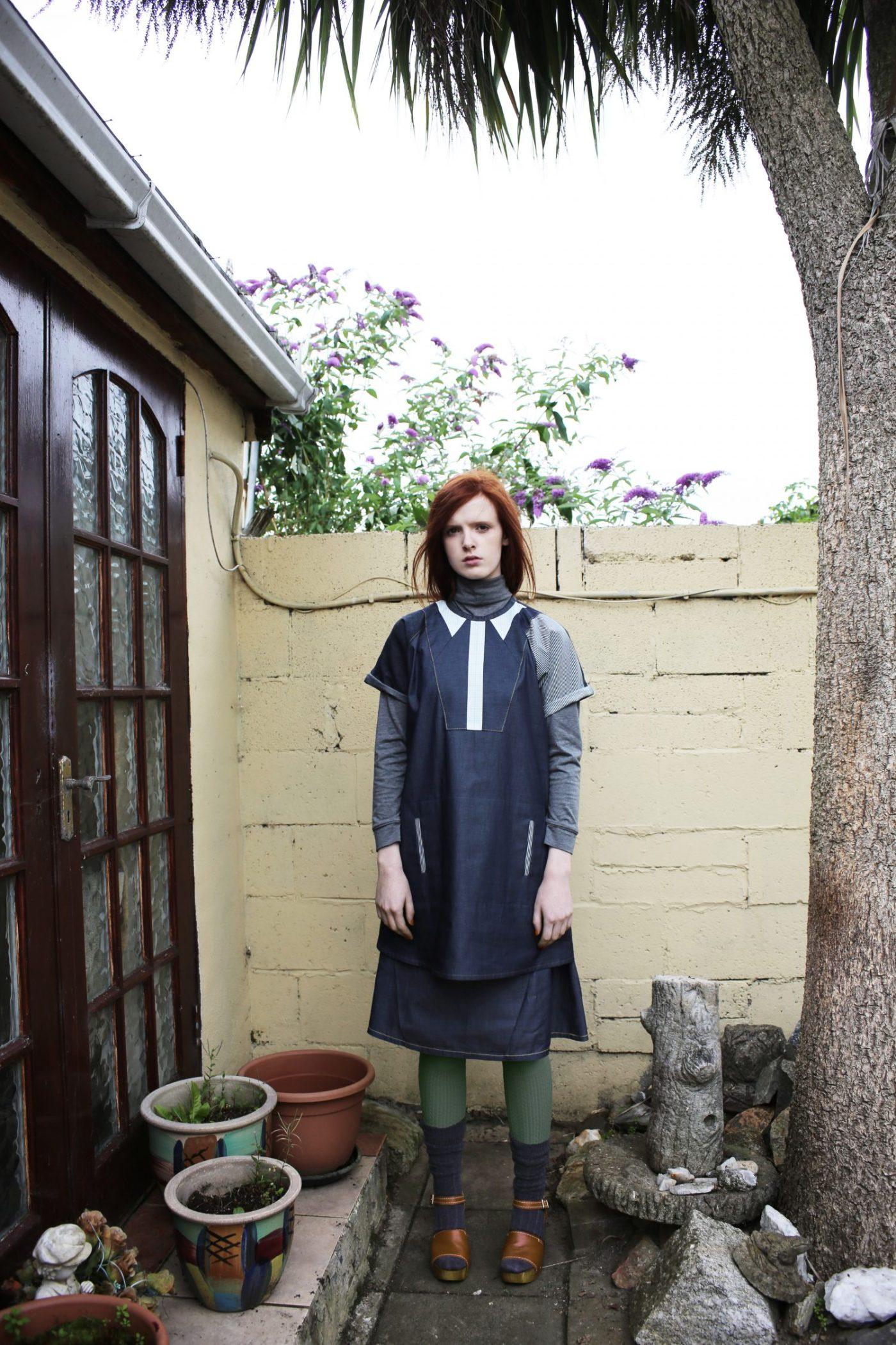 Trompe l'oeil dress   Pleated skirt
