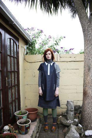 Trompe l'oeil dress | Pleated skirt